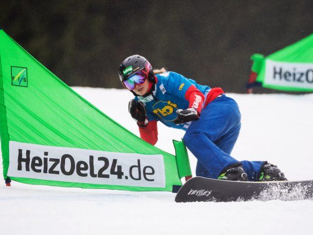 FIS Snowboard World Cup - Winterberg GER - Snowboard Parallel Team Event - SCHOEFFMANN Sabine AUT © Miha Matavz/FIS