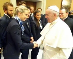 zu Besuch beim Papst